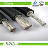 cable solar 6mm2 de la C.C. picovoltio de 0.6/1kv TUV