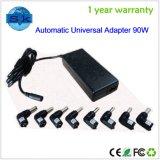 cargador universal automático del adaptador del cuaderno 90W con 8 extremidades