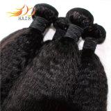 Capelli naturali diritti crespi 100% di Dyeable di colore dei capelli cambogiani del Virgin