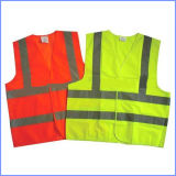 Maglia riflettente di sicurezza di alto colore giallo di visibilità di protezione di obbligazione
