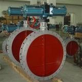 D641W het Pneumatische Type met grote diameter van Flens van de Vleugelklep van de Ventilatie