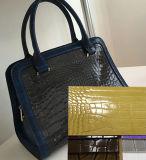 Retro cuoio dell'unità di elaborazione del coccodrillo di colore di pendenza per le borse