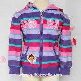 Вскользь Stripe, Print, Cotton Fleece Jacket для Girls
