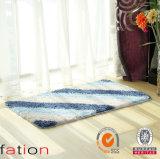 Tapis de bain antidérapant Shaggy lavable de couvre-tapis de porte avec le support de TPR