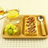 Поднос естественного цвета Hongdao деревянный с ручкой для _E тарелки подноса сервировки завтрака
