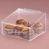 Estojo de exibição de alimentos acrílicos de cupcake de mesa de supermercado (BTR-K4027)