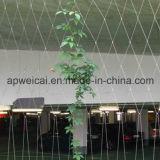 Сетка веревочки провода для животного или загородки здания или лестницы