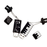 Dessin animé de musique de piano de Custoimzed de lecteur flash USB de PVC d'orgue électronique