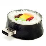 Vara personalizada movimentação do USB do alimento do flash do USB do PVC do sushi