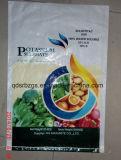 Saco tecido PP plástico do empacotamento para o fertilizante com colorido impresso