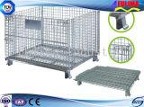 Foldable Wire / Metal Mesh Gaiola Móveis para Armazenamento (SSW-F-006)