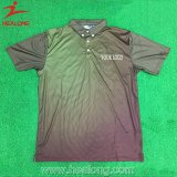 Sublimated Printing 3 Botões Bulk Men's Polo T Shirt Sportswear