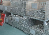 Metal dobrável de paletes gaiola Stacking Stillage Container