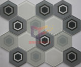 부엌 사용 베이지색 색깔 육각형 유리제 모자이크 (CFC660)