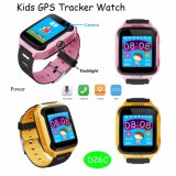 LEDのトーチおよびカメラ(D26C)が付いている子供GPSの追跡者の腕時計