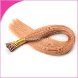 Pre-Bonded уток человеческих волос девственницы выдвижений волос