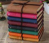 Cahier en cuir neuf de l'agenda 2018 pour le cahier en cuir d'élèves