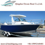 6.25m 21FT Mittelkonsolen-Kabine-Boote mit Hardtop Aluminiumluxuxrippen-Bewegungsfischen-Yacht