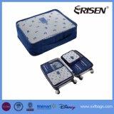 立方体の荷物の記憶を詰めている6PCS旅行オルガナイザーは圧縮の袋を袋に入れる