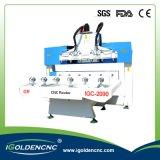 4つの軸線CNC機械、木に使用するCNCの経路指定機械