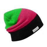Оптовый цветастый связанный Beanie шлема Slouchy с ярлыком