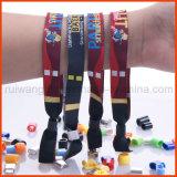 Fabric feito sob encomenda Woven Wristband com Embroidery Logo para Event (PBR002)