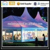 Tienda impermeable de la carpa del partido de la pagoda de Nigeria África del palmo del claro del alto pico del blanco del PVC de la tela de la boda del acontecimiento de la lona de aluminio impermeable al aire libre de Guangzhou