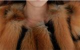 2014 cappotti di pelliccia genuini Media-Lunghi di Fox delle donne calde di inverno