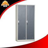 Große Kapazität billig 2 Tür-Stahltuch Almirah Schrank-Metallspeicher-Garderobe