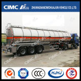 Cimc Huajun 3axle Stainless Liquid/Fuel/Gasoline/Oil/LPG Tanker