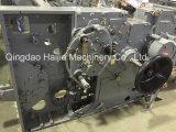 ウォータージェットの織機のための二重ノズルの明白な取除く編む機械