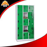 Hot Sell Colorful Storage Metal Kd 15-Doors Wardrobe Locker