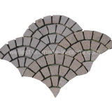 Exteriorの庭Landscapeおよびテラスのための一致させたGranite Fan Shape Paving Stone