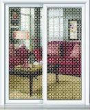 芸術は装飾的な建物によって転送された泡パターンペンキのガラス瓶のドアのWindowsの芸術を和らげた