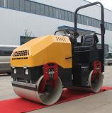2 Tonnen-hydraulische Fahrt auf doppeltes Trommel-Rollen-Verdichtungsgerät (FYL-900)