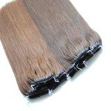 두 배에 의하여 당겨지는 인간적인 중국 Remy 머리 스레드 매듭 머리 연장