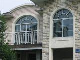 茶カラーガラスが付いているヨーロッパ規格PVCプロフィールの横窓