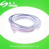 O nível desobstruído do PVC do plástico reforça a mangueira transparente