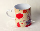 11oz Ceramic Foto White Mugs mit Heart Handle