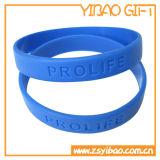 Regali promozionali del braccialetto del silicone di marchio di Debossed (YB-SW-03)