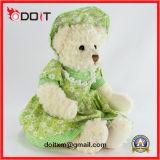 녹색 Skrit 주문 견면 벨벳에 의하여 채워지는 장난감 곰 장난감
