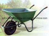 Carrinho de mão de roda grande Wb6414A da capacidade da bandeja plástica