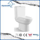 Toilette en céramique de cabinet en deux pièces de lavage à grande eau de salle de bains (AT1990)