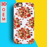 2016 случай телефона новой притяжки печати конструкции цветка TPU способа прибытия 3D цветастый