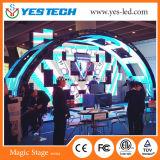 Écran LED de fond de scène de concert avec formes multi créatives