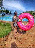 Поплавка бассеина донута кольца Swim поплавки бассеина кренделя раздувного взрослый, тюфяк воздуха, плавая пол