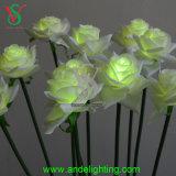 Decoración de la boda de la luz de la flor blanca