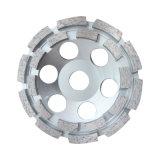 Meule de double cuvette de rangée de segment pour le béton, maçonnerie, pierre,