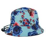 Normale Großhandelsblume gedruckter Wannen-Hut mit Zeichenkette