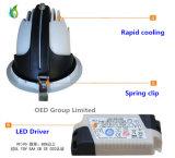 15W Downlight embutido LED con la lámpara aprobada del tronco del Ce SAA LED de los CB del TUV